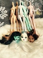 8 PCS lot of imitation monster dolls DIY fairy high quality rotary joints doll girl a