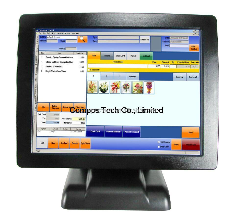 cheap 15 inch all in one touch screen pos <strong>pc</strong>