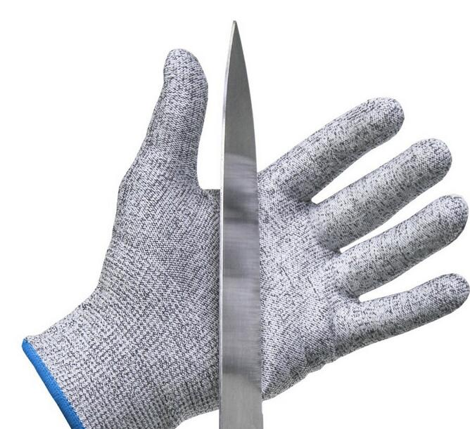 EN388 Metal Industry Polyurethane Palm Dipped Level 5 Industrial Cut Resistant Safety Gloves