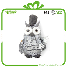 Brand new 9 inch home festival decorative christmas ornaments owl plush
