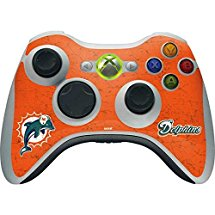 NFL Miami Dolphins Xbox 360 Wireless Controller Skin - Miami Dolphins Distressed- Aqua Vinyl Decal Skin For Your Xbox 360 Wireless Controller