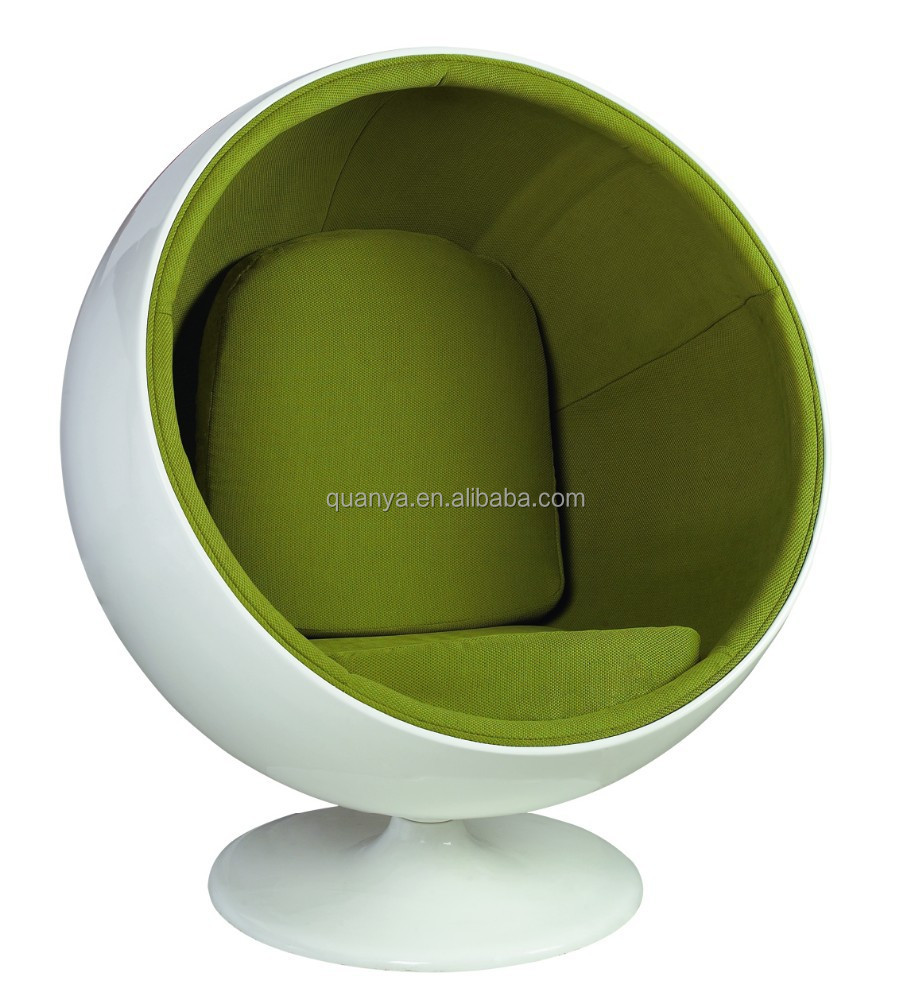 modern classical fiberglass Eero Aarnio ball chair for living room