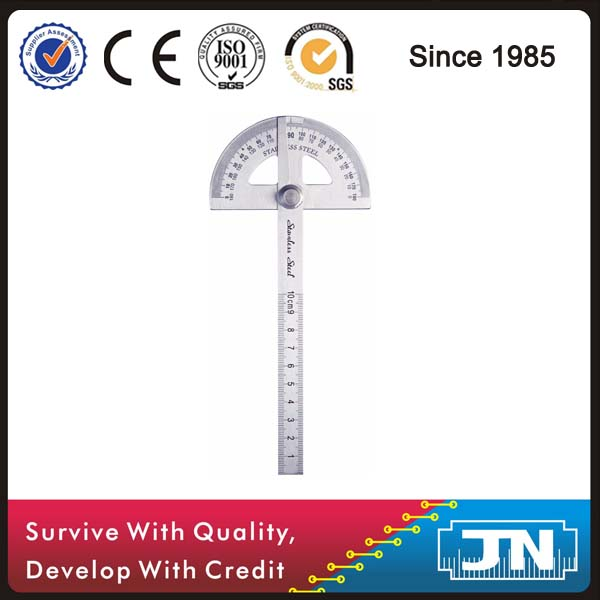 yyuezhi 0-180 Degree Stainless Steel Protractor Goniometer Protractor Metal Angle Adjustable Goniometer Rotary Protractor Angle Protractor Angle Finder Ruler Two Arm Measuring Device Ruler Angle Ruler