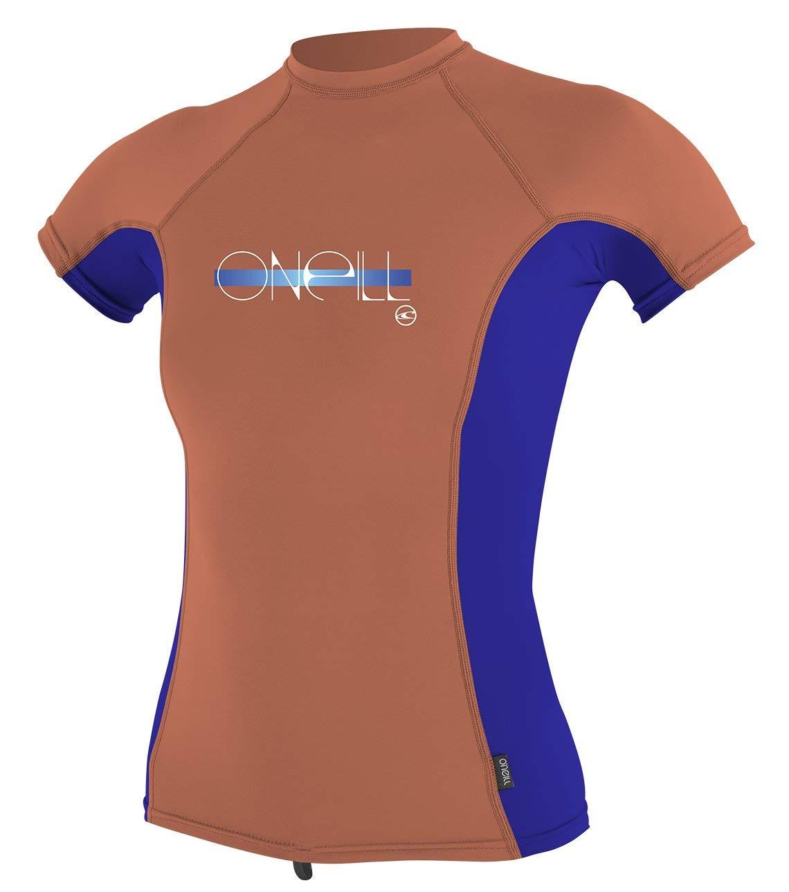 1656ea1edf1 Get Quotations · O Neill Girls Premium Skins UPF 50+ Short Sleeve Rash Guard