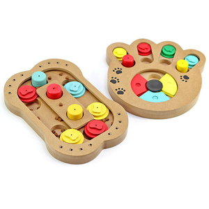 Best design paw shape wooden interactive dog toys Increases IQ and Mental Stimulation