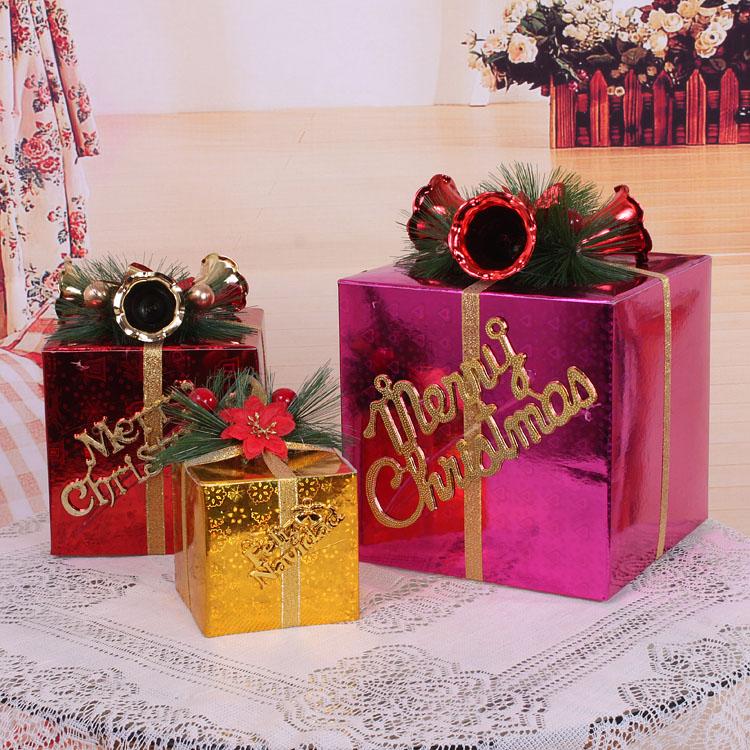 Gift Box Christmas Decorations: Christmas Gift Box Christmas Decorations For Home New Year