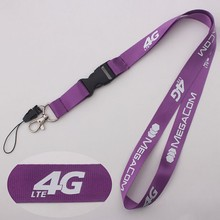 Widely use quality assured silicone logo rubber lanyard