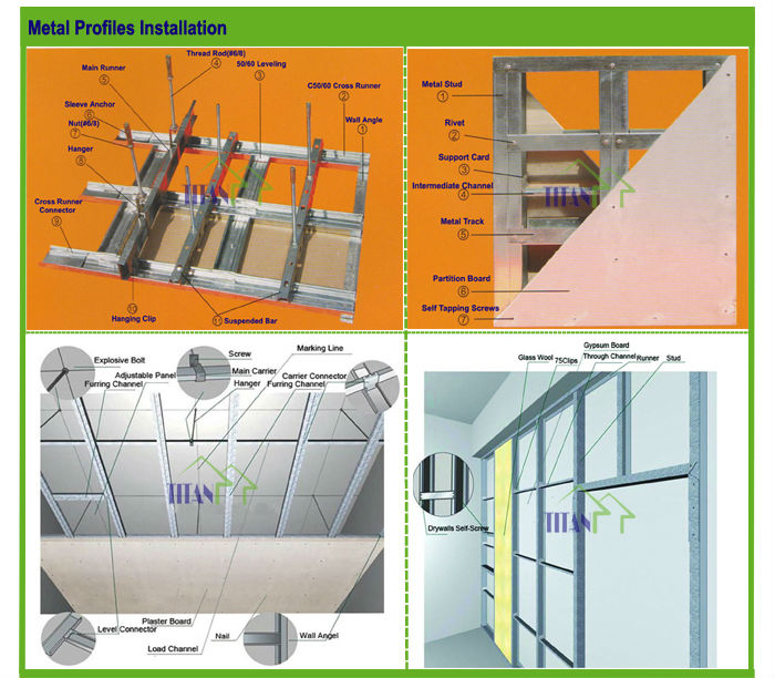Construction Drywall Metal Profile Materials