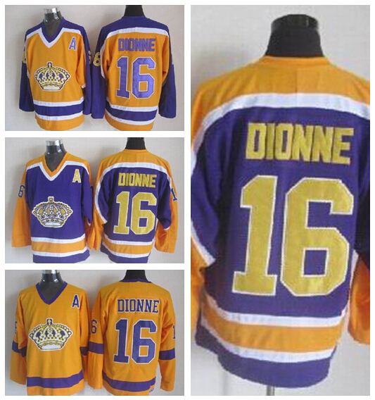 9221d405 ... production Los Angeles Kings Throwback 16 Marcel Dionne Jersey CCM  Vintage Retro Yellow .
