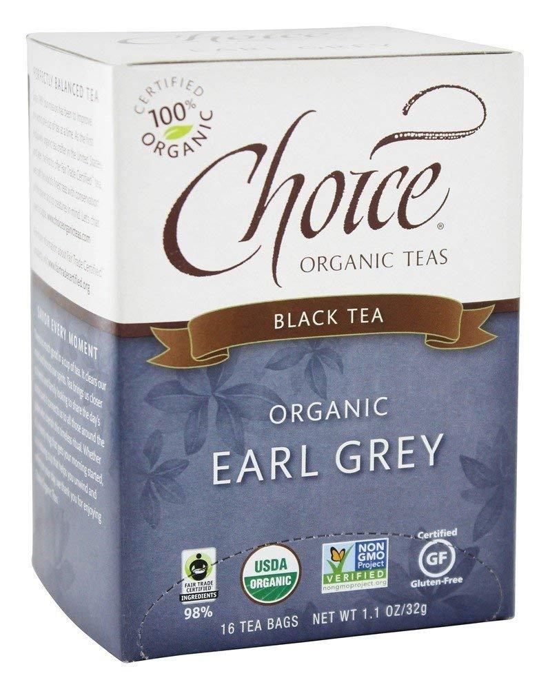 Choice Organic Teas - Earl Grey Tea - 16 Tea Bags