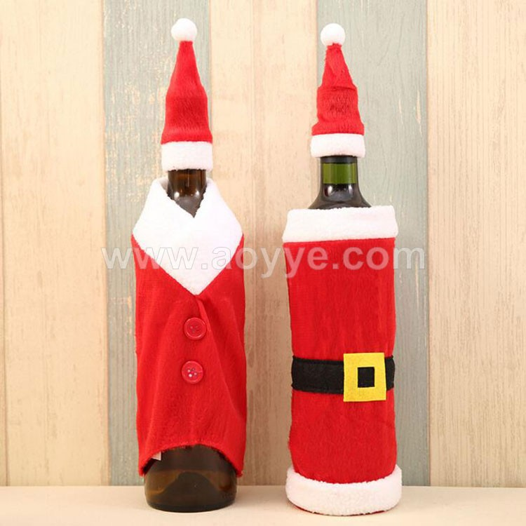 Christmas santa claus home party decoration red wine bottle covers bag, Christmas supplies wine bottle clothes