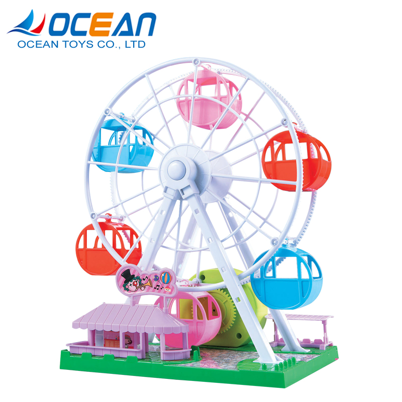 Dreaming playground hand crank music box children toys mini small ferris wheel for hot sale