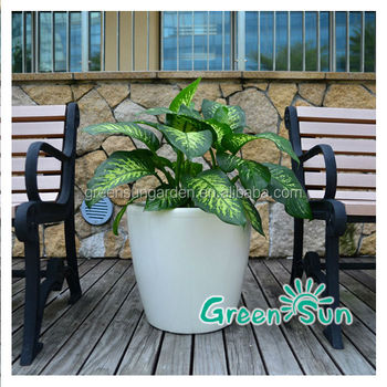 Planter With Water Reservoir/planter With Liner/ceramic Flower Pot ...