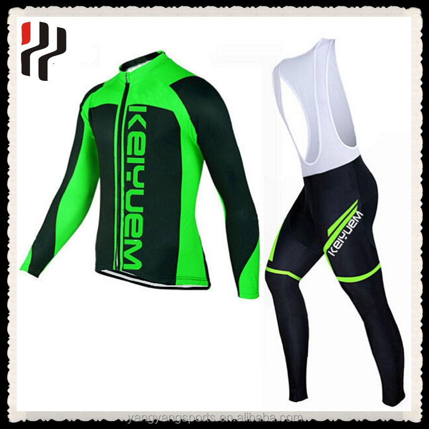 New design quick dry long sleeve sublimation digital printing winter bicycle clothes