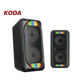 Double 8 inch active bluetooths trolley speaker with flashing led light