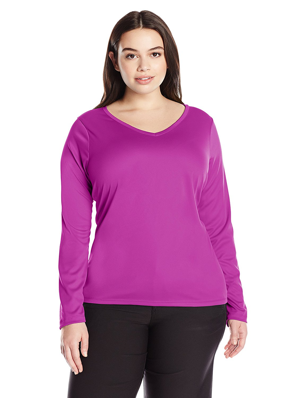 db3f8909908af Get Quotations · Kanu Surf Women s Plus Size Solid UPF 50+ Long Sleeve Swim  Shirt Rashguard