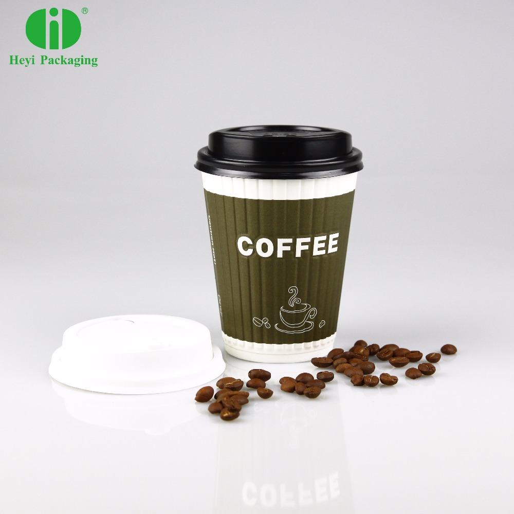 Disposable custom printed hot coffee kraft paper cup