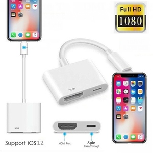 8 Pin HDMI Cable For Iphone To HDMI HDTV TV Adapter Digital AV Cable 1080P For iPad Pro Air iPhone X Xs Max XR 8 7 Plus 6S