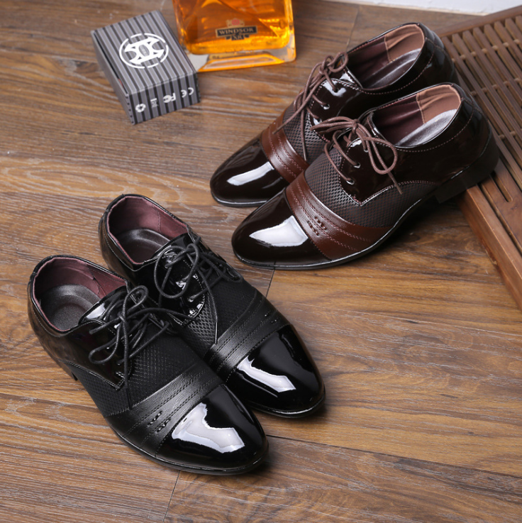 DL10003A 2017 new model leather shoes cheap men leather dress shoes