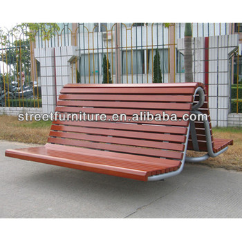Solid Wood Park Bench Seat With Metal Frames