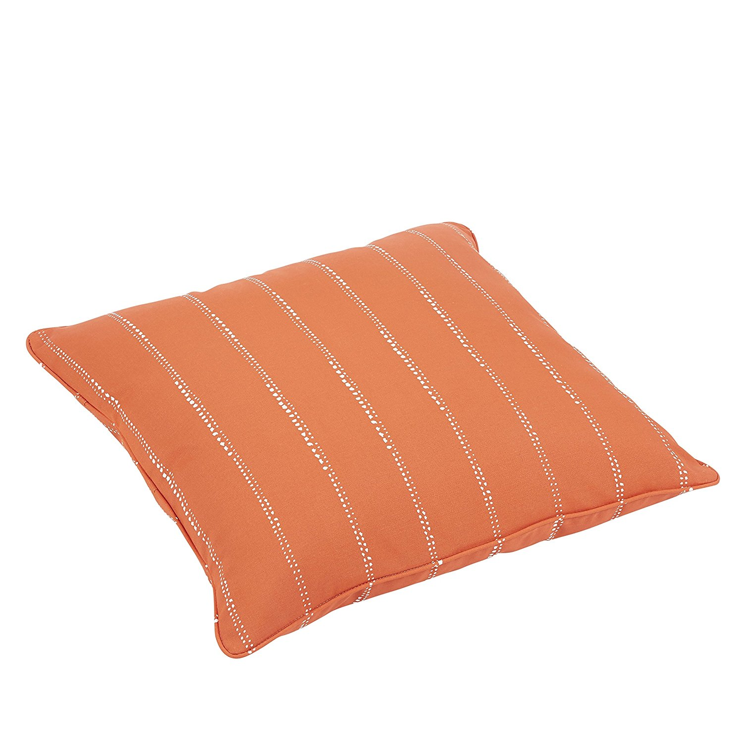 Mozaic Company Caldwell II Orange Dotted Stripes Indoor/ Outdoor 26 inch Corded Floor Pillow