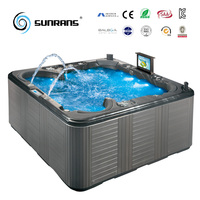 Hot sale Freestanding Balboa system two lounge hot tub for 6 person hot tub