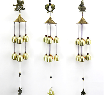 Chinese Traditional Feng Shui Wind Chime Fish Bell For Good Luck Blessing Fortune Home Car Crafts