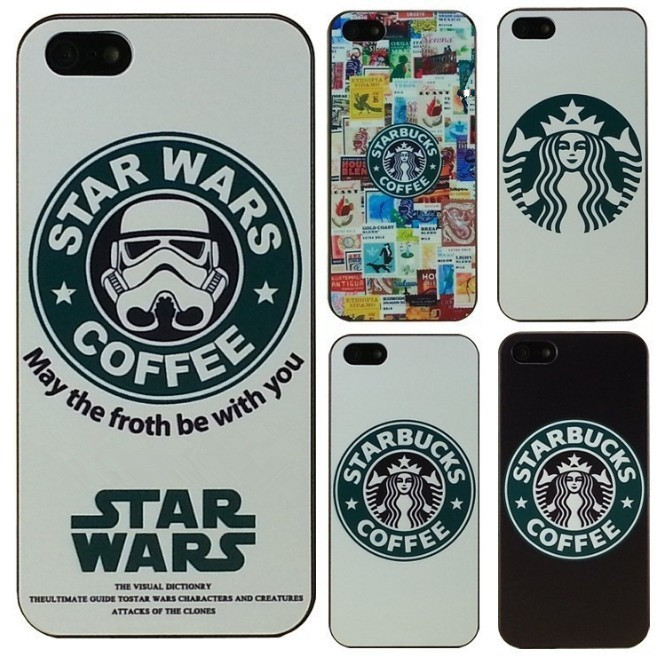 reputable site 8c0ba ea316 Hot Starbucks Star wars coffee design phone case for iphone 5 case for  iphone 5s case phone Case