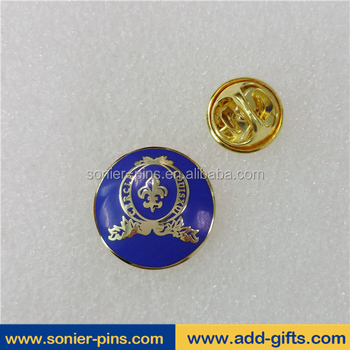 Sonier-Pins wholesale custom logo metal lapel pin badge holder with gold plated