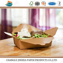 Customized recycled disposable paper food packaging box/paper packaging/packing