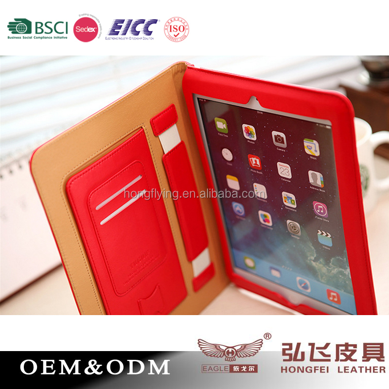 Customize stand leather tablet cover for iPad Air case