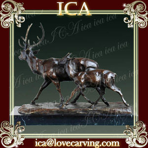 ICA,Brass deer animal statues,decpratove deer,decorative deer statue
