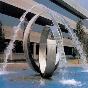 Outdoor Metal Water Fountains Sculpture Stainless Steel Sculpture