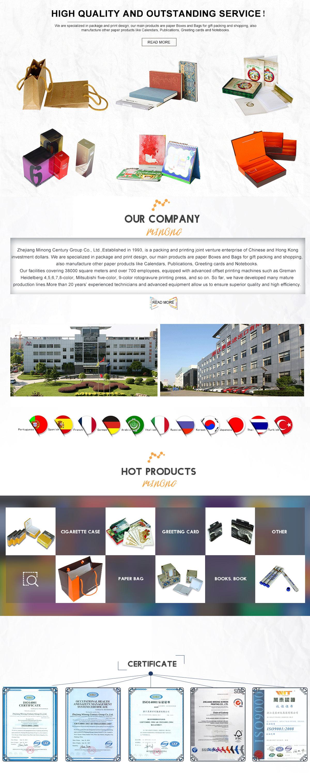 Zhejiang Minong Century Group Co Ltd Cigarette Packing Notebook