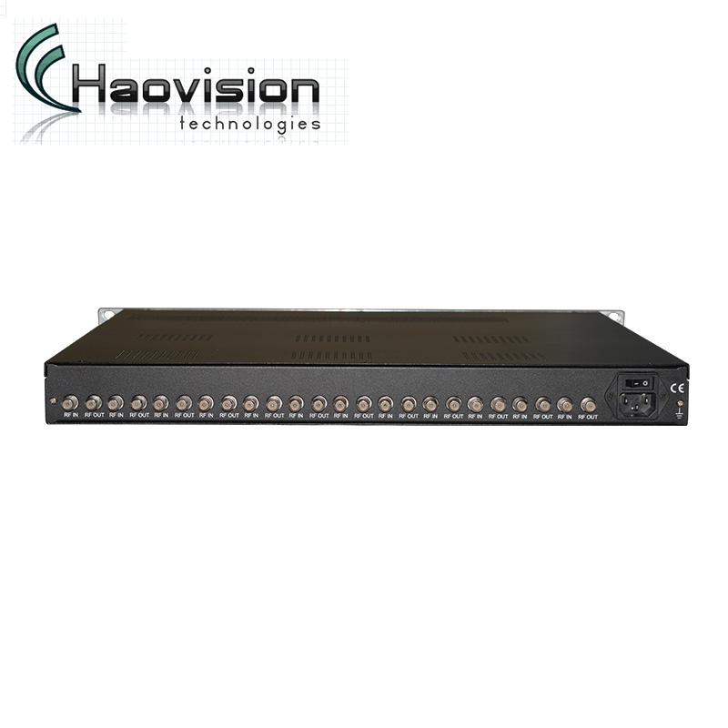 12 FTA Saluran RF Digital DVB S2 Ke IP Gateway Modulator