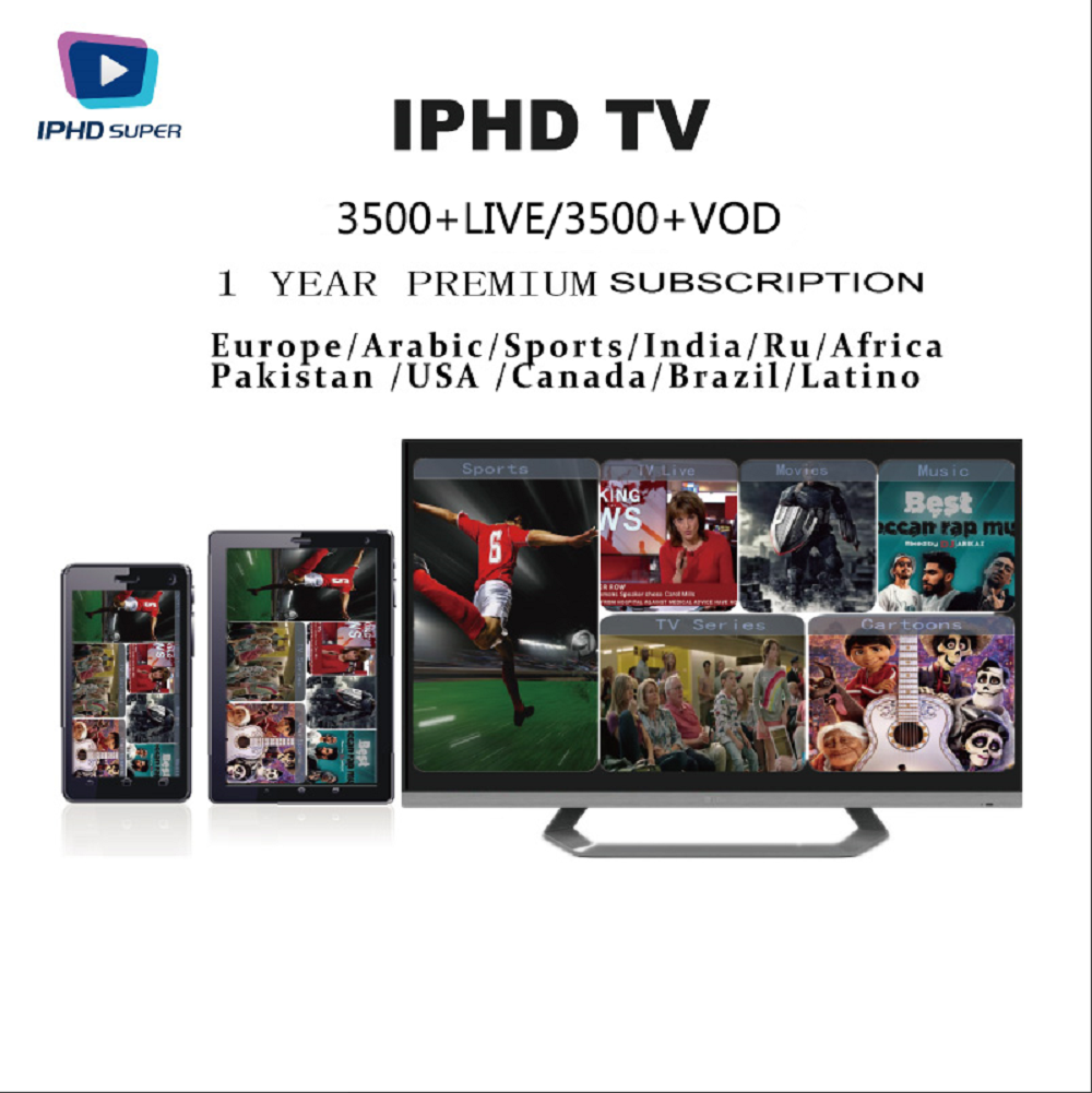 IPTV Subscription arabic europe french italian stream live tv code iptv 3500 channels and 2000 movies  VOD LINUX STALKER