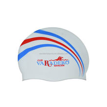 Nice cool float flag silicone swimming cap
