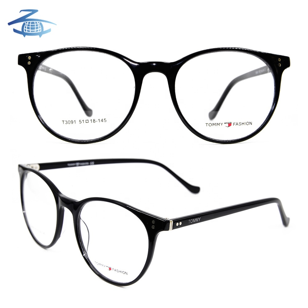 New Wholesale Acetate Spectacle Round Optical Glasses Frame for Women, Custom colors