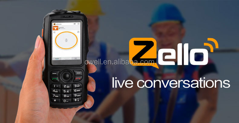 Alps A17 2.4 Inch Screen IP67 Waterproof POC Walkie Talkie Android Mobile Phone