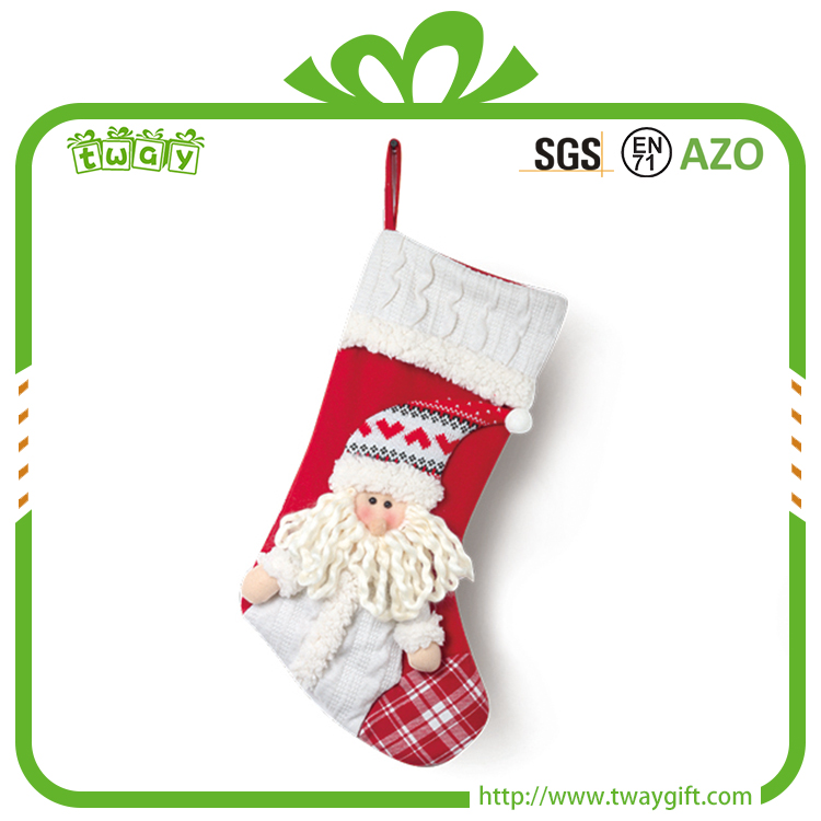 New arrival 20 inch decorative socks xmas gifts santa claus unique snowman christmas gift