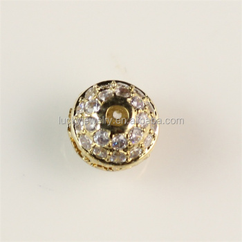 Cute jewelry parts findings gold pave micro white stones for Unique stones for jewelry making
