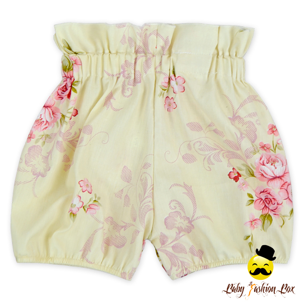 3DDK021-28 Yihong New Design Floral Vintage High Waist Baby Girls Bloomers