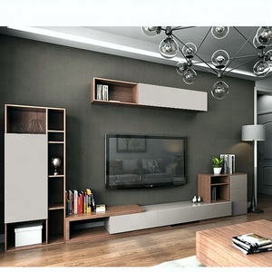 Hot sale wall mounted tv showcase designs lcd tv cabinet/wall unit