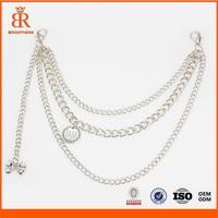Customized Metal Handbag Chain Bag Silver Chain Belt Designs for Girls