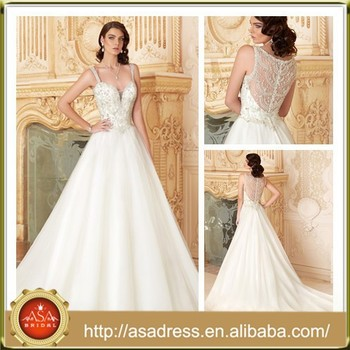 Kc21 Classic Royal Style Sweetheart Spaghetti Strap Bridal Gown
