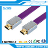 Wholesale Gold Plated 1080P Flat HDMI Cable 2.0 1.4 5m for 3D super HD 2160p