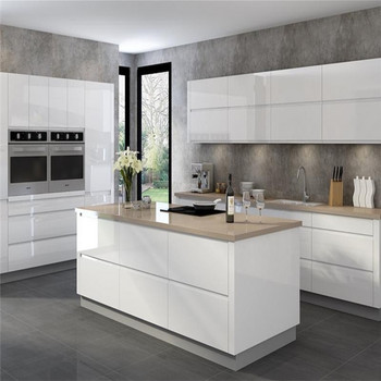 Villa projects modern design l shaped kitchen cabinet