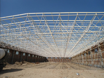 Prefabricated curved steel roof truss design buy steel for Manufactured trusses prices