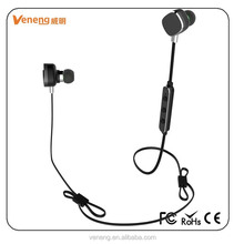 ABS+metal earbuds V4.0 wireless bluetooth earphone with microphone for iphone