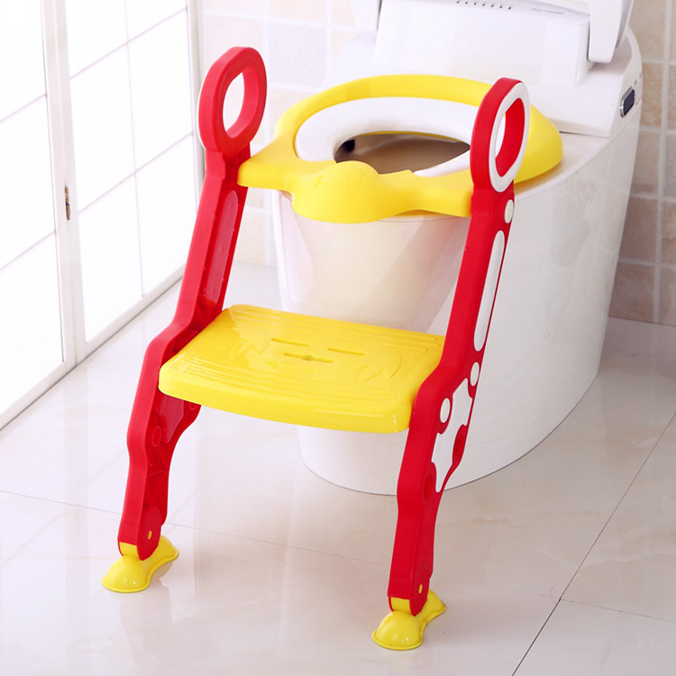 2017 New Design Top Hot Selling Bright Color Eco-Friendly PP Baby Portable Toilet Foldable Training Potty Chair